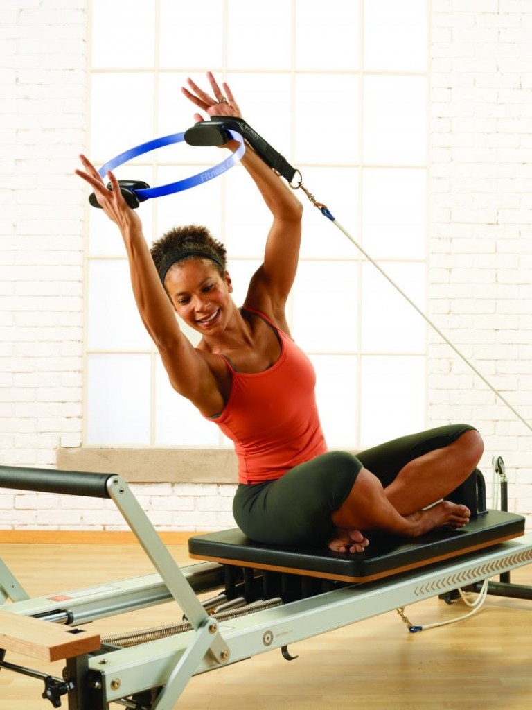 Pilates. Reformer. Fitness circle